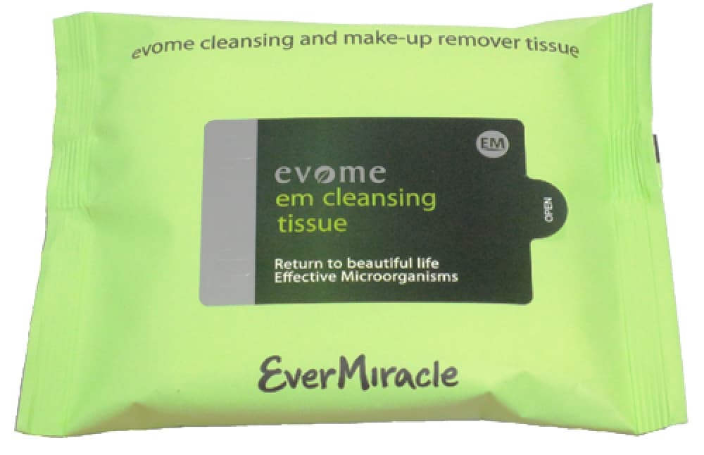 EVOME EM CLEANSING AND MAKE UP-REMOVER TISSUE Очищающие салфетки Evome Pulamu Carecella Sallimi Misaengmo Gold от evermiracle.ru